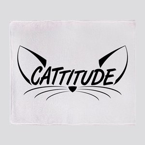 Cattitude Throw Blanket